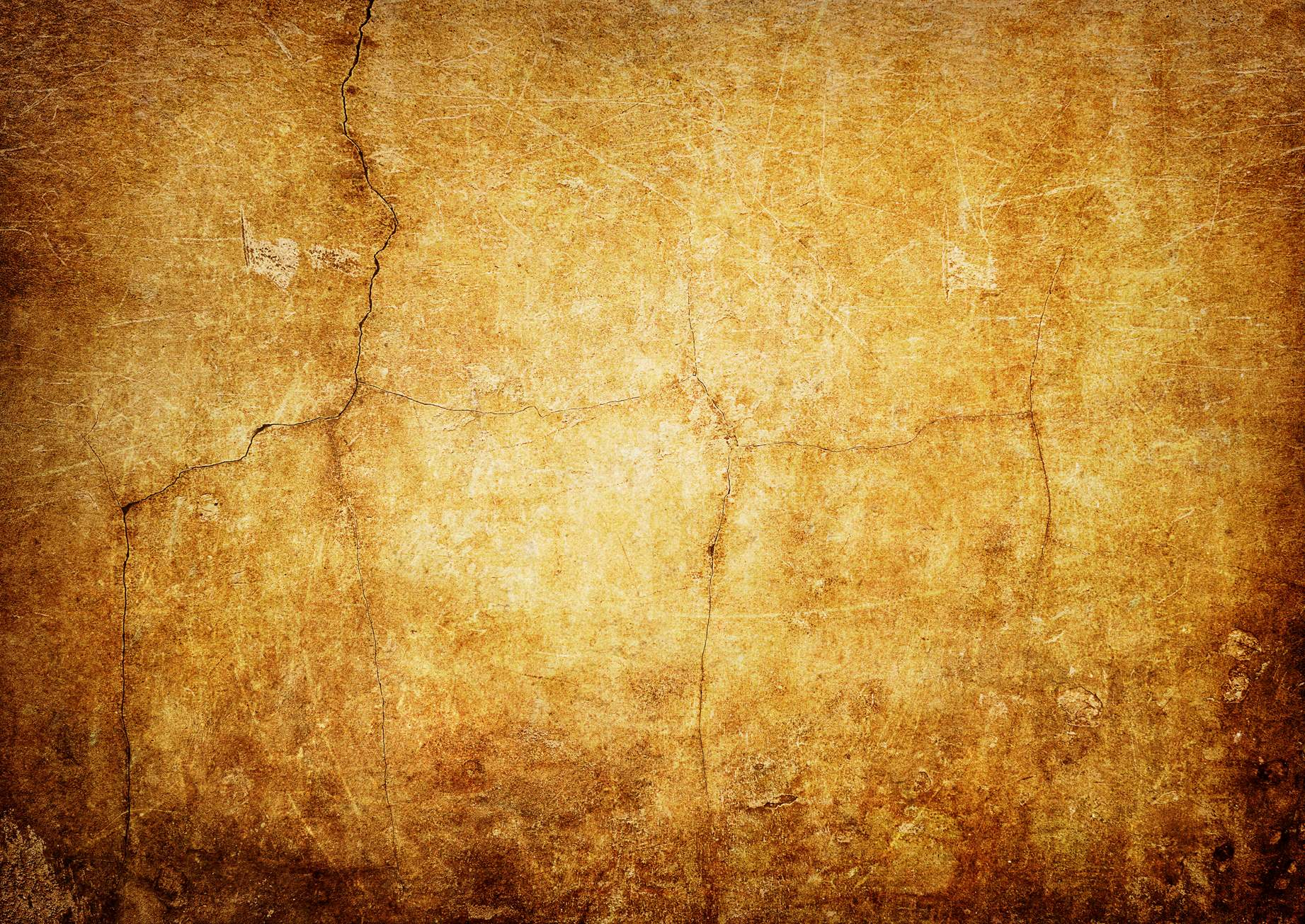 Yellow Vintage Wall Texture Background - PhotoHDX