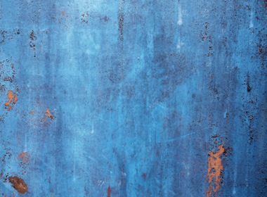 Blue Rusty Metal Background Texture