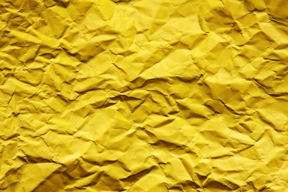 Yellow Wrinkled Paper Texture