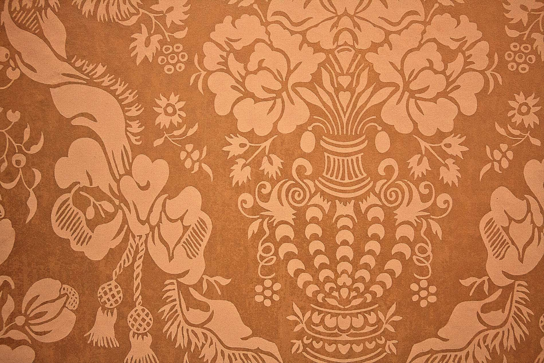 Red Brown Carpet With Vintage Pattern Photohdx