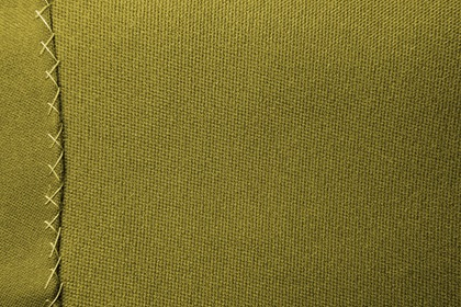 Green Fabric Texture With Stitches