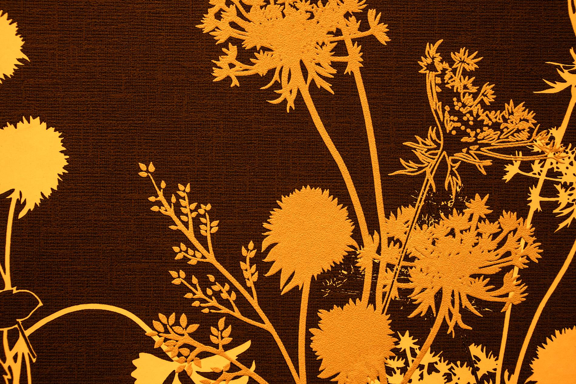 Brown Yellow Vintage Fabric Texture With Flower Design - PhotoHDX for Brown Fabric Texture Design  585eri