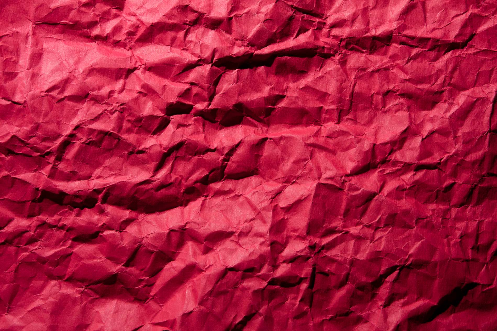 Crumpled Red Paper Texture - PhotoHDX