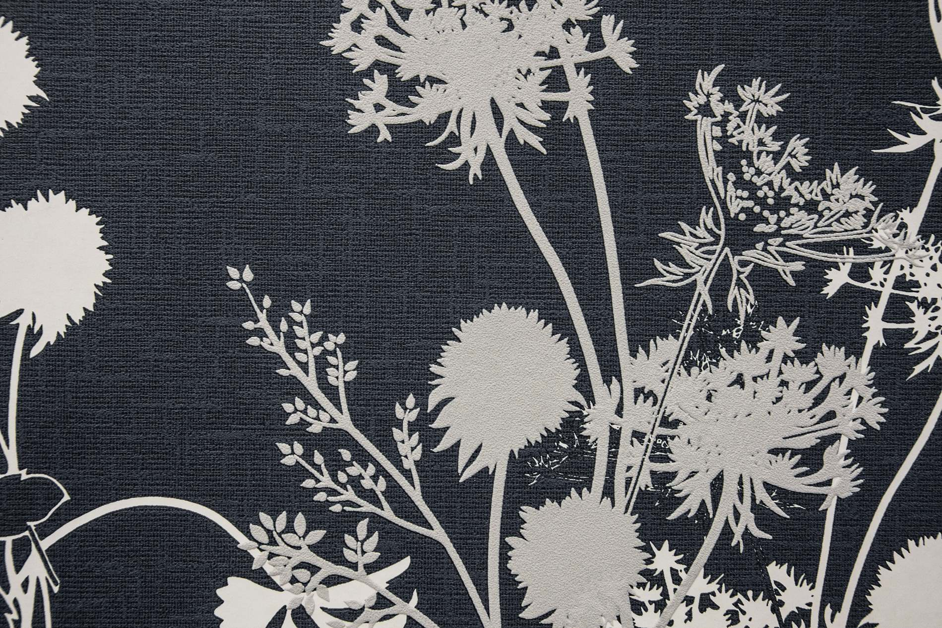 Grey Vintage Fabric Texture With Flower Design - PhotoHDX for White Fabric Texture Design  45gtk