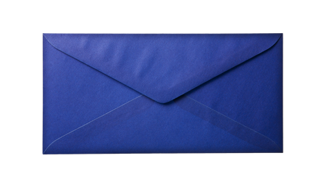 Blue Envelope Paper Background Layer