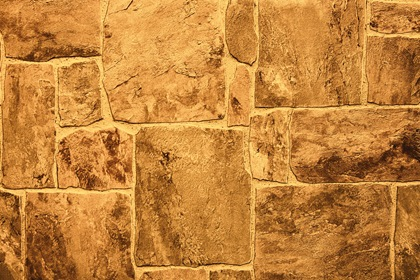 Brown Yellow Stone Wall Texture Carpet