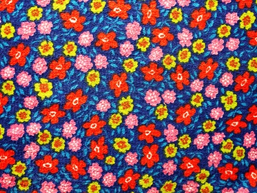 Colored Flowers Fabric Texture Background