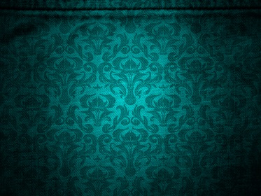 Green Vintage Canvas With Damask Pattern Background
