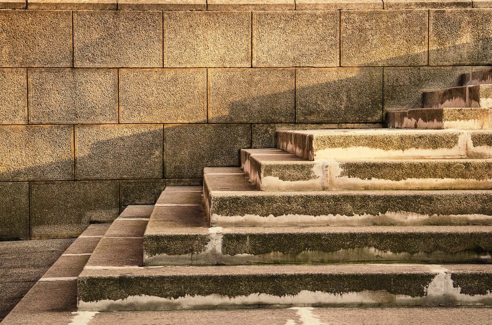 Ancient Wall Stairs Geometric Pattern Composition - PhotoHDX