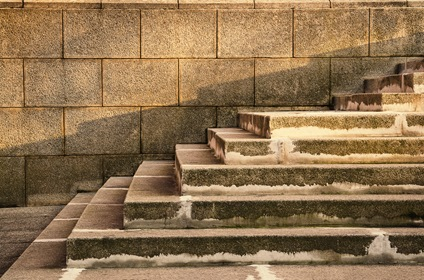 Ancient Wall Stairs Geometric Pattern Composition