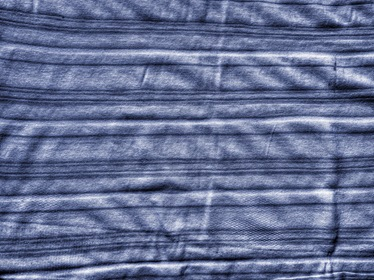 Blue Fabric Texture With Stripes