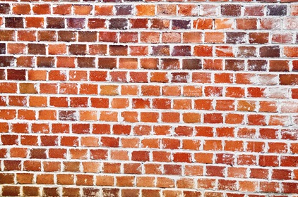 Grungy Red Brick Wall Texture Background