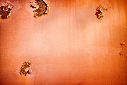 Red Rusty Metal Texture Background