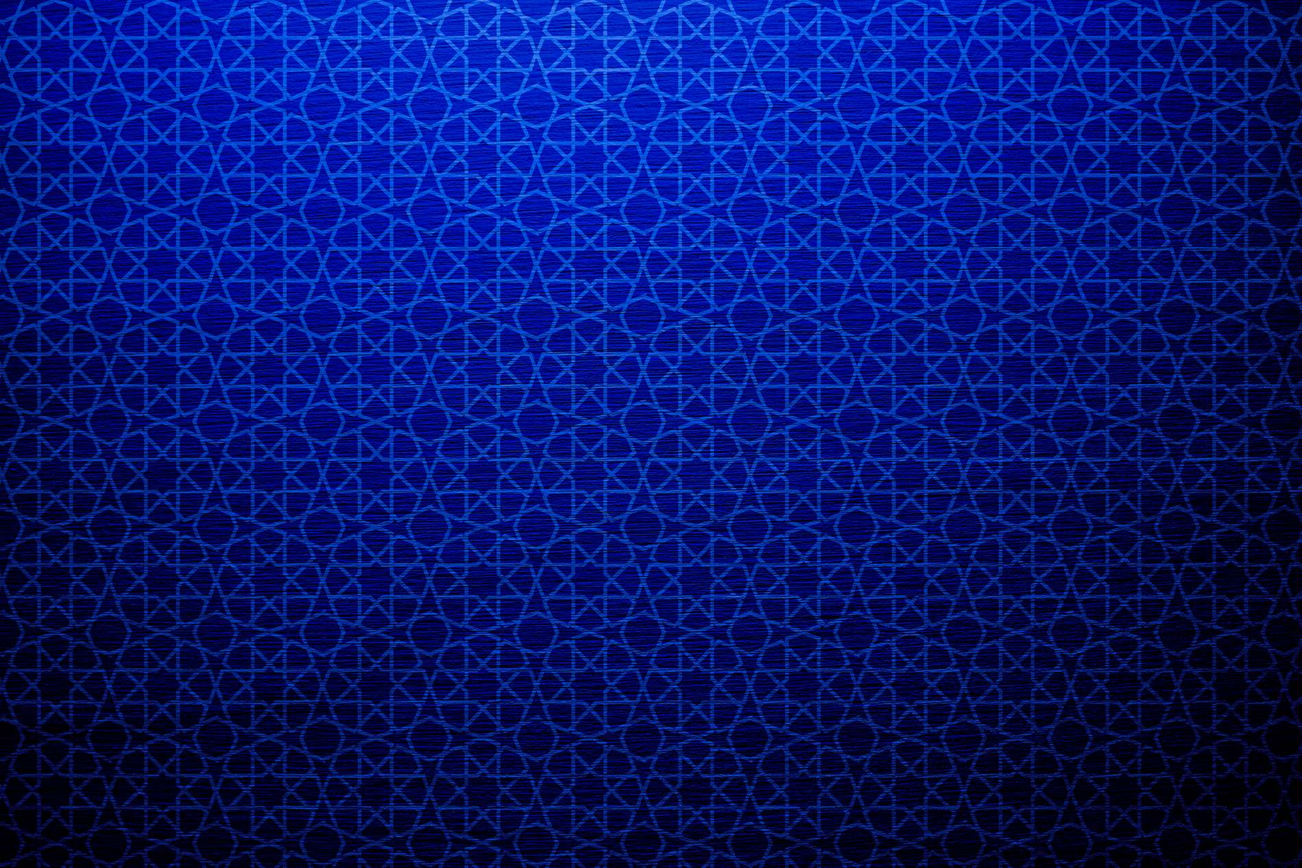 Blue Wall Texture With Geometric Shapes Pattern Background