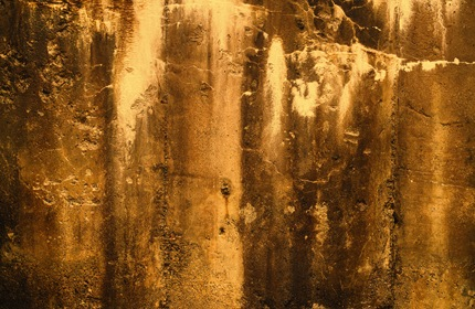 Old Yellow Grunge Stone Wall Texture