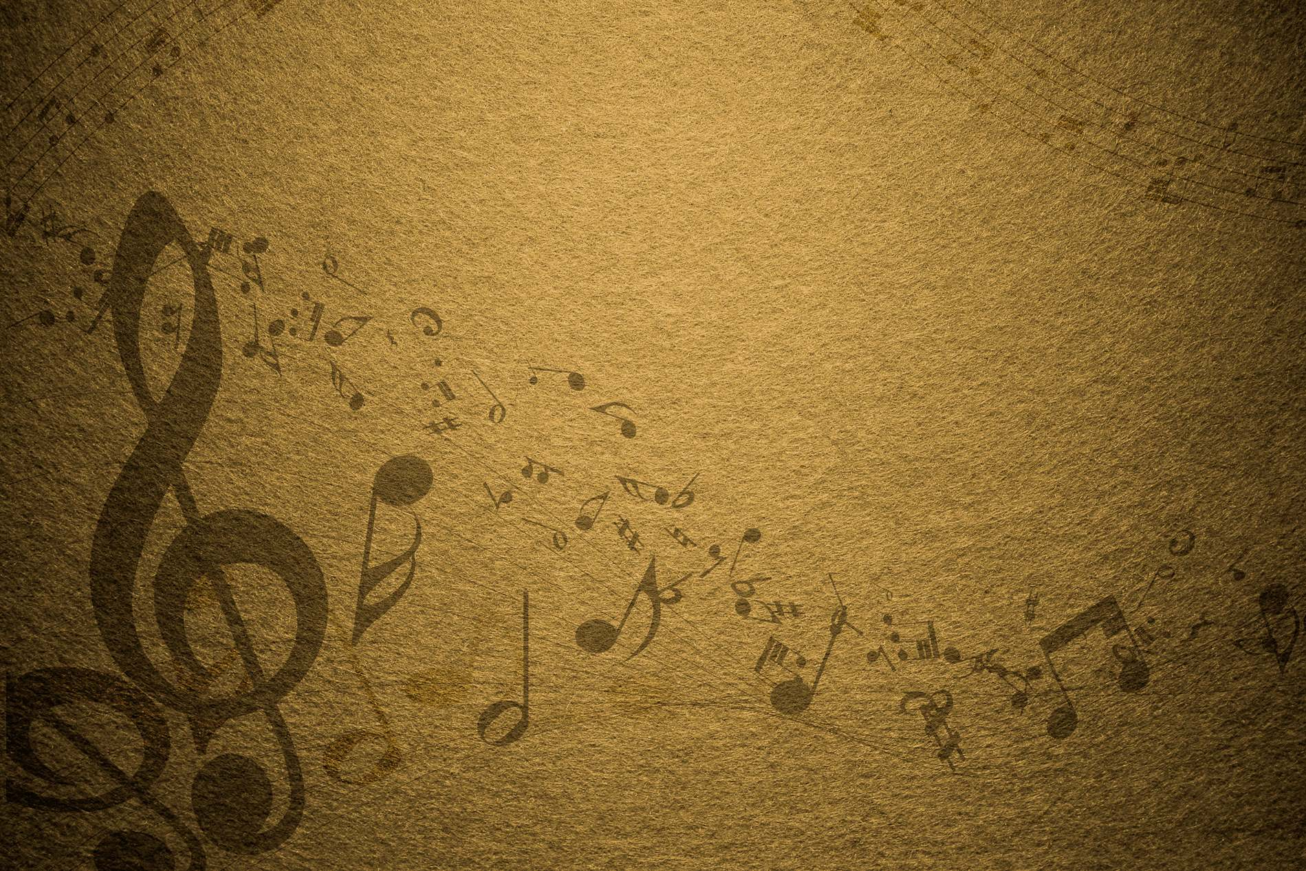 yellow vintage music notes background photohdx