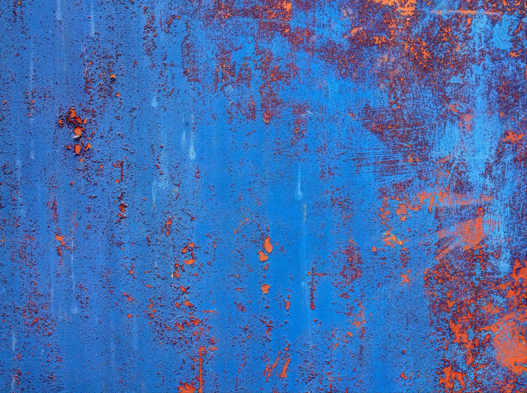 grungy blue rusty metal panel texture