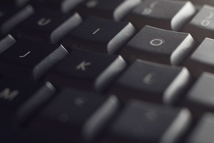 Black Close Up Keyboard Abstract Background
