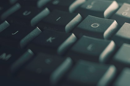Green Close Up Keyboard Background