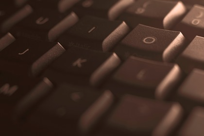 Keyboard Close Up Background Brown