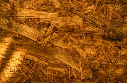 Pieces Of Pressed Wood Yellow Grunge Texture