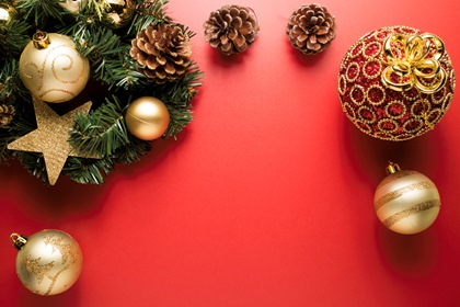 Red Christmas Styled Photo