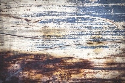 Blue Rusty Grungy Scratched Background