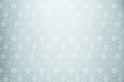 Floral Design Silver Blue Paper Background