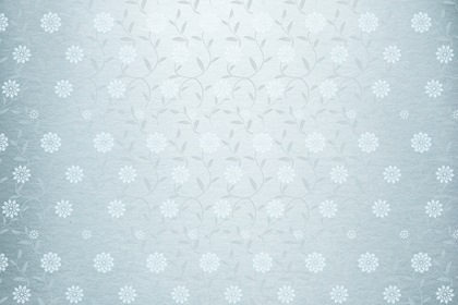 Silver Paper Background With Floral Design