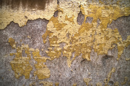 Old Withered Yellow Wall Texture Background