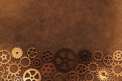 Vintage Brown Steampunk Gears Background