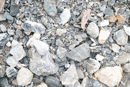 Big Rocks With Gravel And Dirt