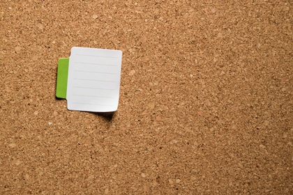 Notes Paper On Corkboard