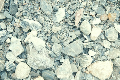 Rocks With Gravel Dirt Background