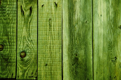 Green Wood Planks Background