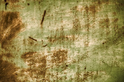 Grungy Rusty Green Background Metal