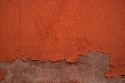 Vintage Orange Wall Withered Paint Texture