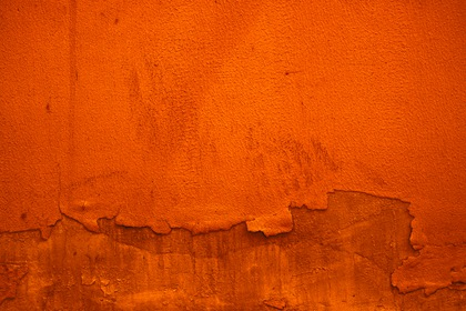 Orange Withered Paint Wall Texture Background