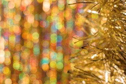 Christmas Golden Bokeh Background