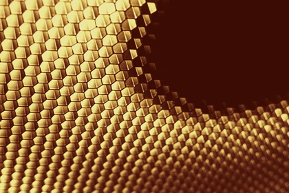 Golden Honeycomb Background