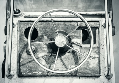 Old Silver Metal Wheel Bw