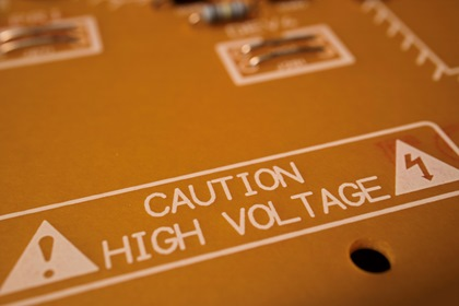 Circuit Board High Voltage Warning