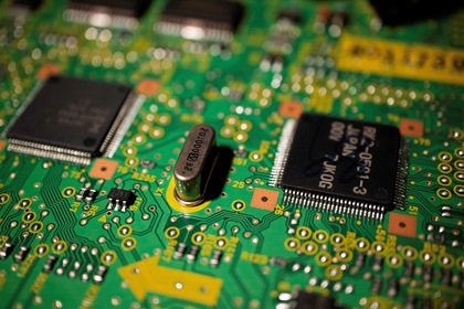 Integrated Circuit Blurry Background