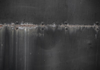 Dark Gray Metal Plate With Rivets