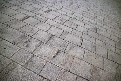 Gray Concrete Tiles Perspective Background