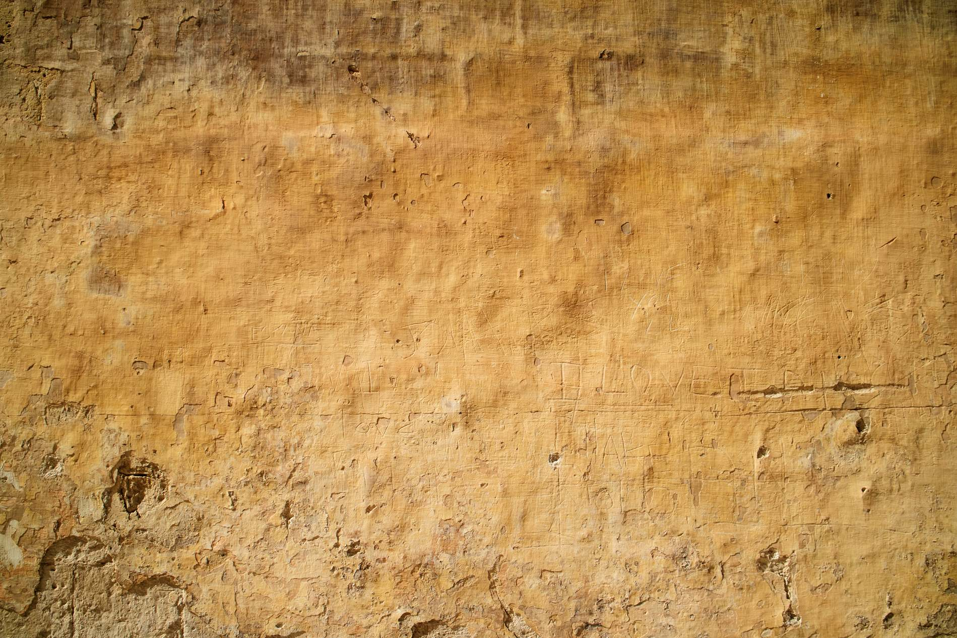 Old Yellow Wall Texture Background - PhotoHDX