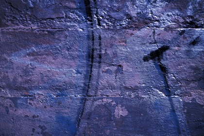 Blue Grungy Abstract Scrawled Wall Texture
