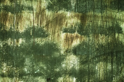 Grungy Green Scratched Metal Texture