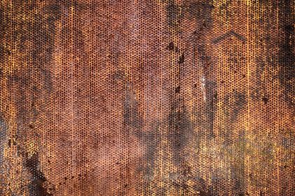 Grungy Rusted Metal Mesh Texture