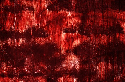 Red Horror Scrawled Texture Background